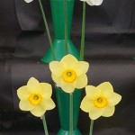 Richard Smales Trophy 3 vases of 3 blooms Ed Crutchley